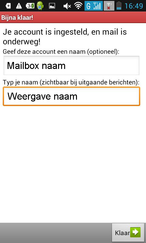 E-mail Android instellen screenshot 7